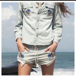 Spell & the Gypsy Route 66 Chambray Shorts